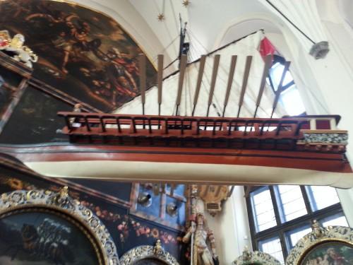 Model statku w Dworze Artusa